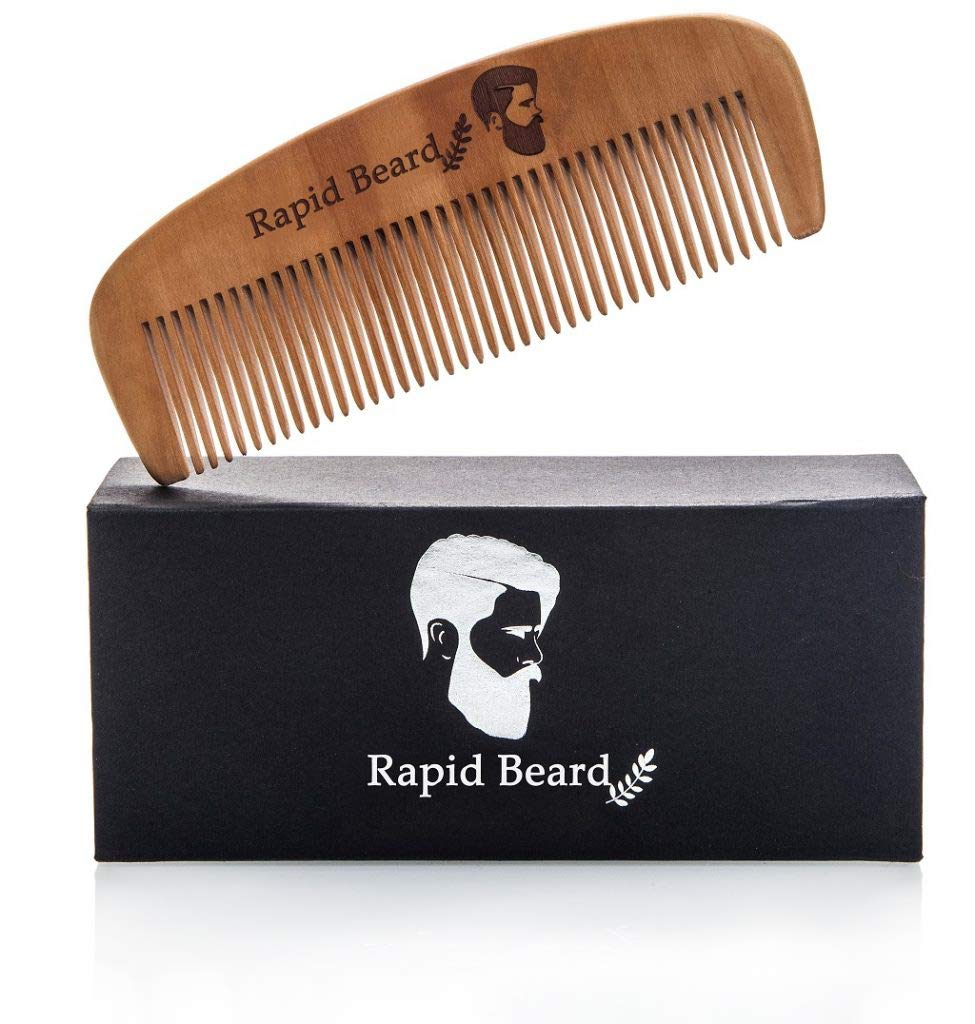 Beard Brush and Beard Comb kit for Men Grooming, Styling & Shaping - Handmade Wooden Comb and Natural Boar Bristle Beard Brush Gift set for Men Beard & Mustache Care by Rapid Beard by Rapid Beard (Image #3)