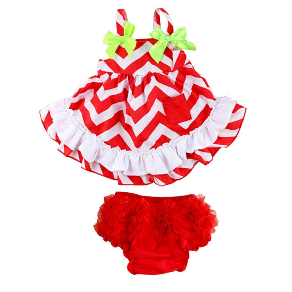 Amazon.com: Wennikids las niñas de bebé de algodón Swing ...