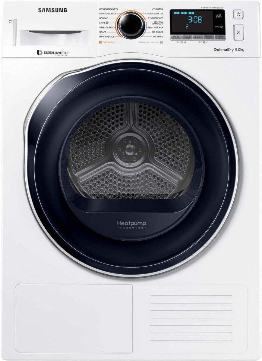 Samsung DV90M6200CW/EF - Secadora de ropa (condensación, 9 kg, iniciación diferida, sonda electrónica, visualización del tiempo restante, pantalla clase: 618246
