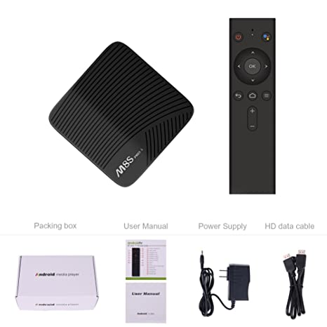 Mecool M8s Pro L Android 7 1 TV Box 3GB RAM 32GB ROM with Voice Control  Remote Octa Core Bluetooth 4 0 Dual 2 4G/5G WiFi 4K UHD Supported