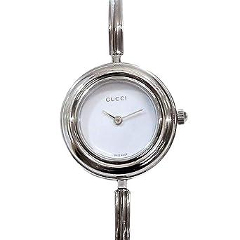 ba0637779dc6 グッチ GUCCI チェンジベゼル 11/12 2L バングル レディース 腕時計 ホワイト 文字盤 クォーツ ウォッチ