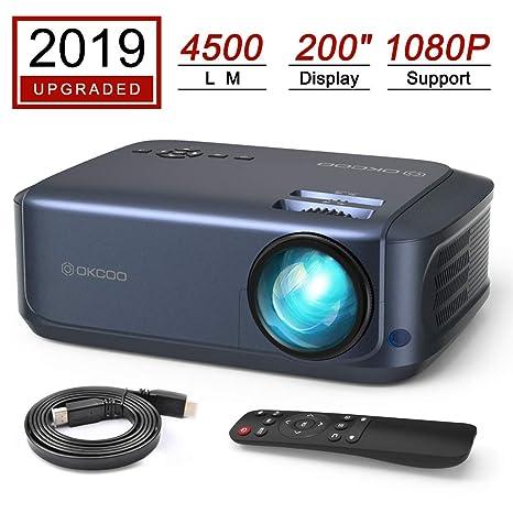 Amazon.com: OKCOO K68HD Proyector de vídeo, portátil de 3500 ...