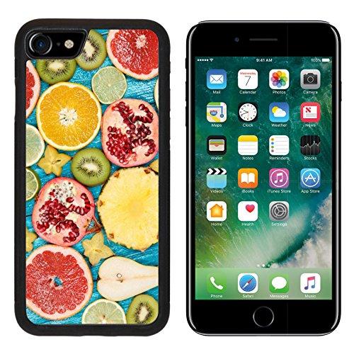 MSD Premium Apple iPhone 7 Aluminum Backplate Bumper Snap Case iPhone7 Set of colorful fruit slices IMAGE 34227633