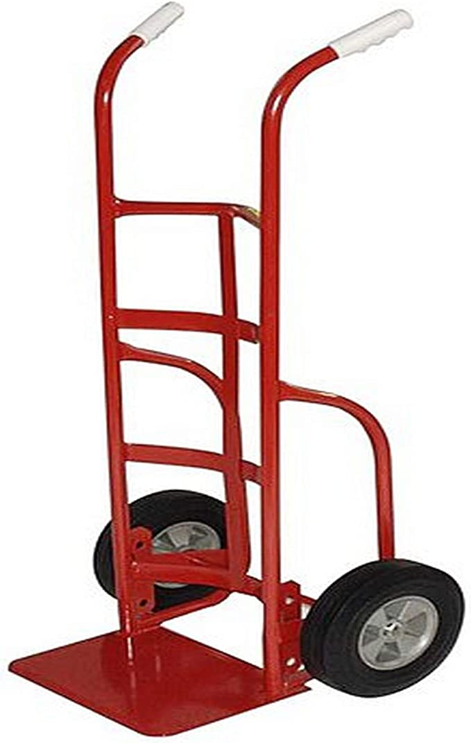 Milwaukee Hand Trucks 37029 D-Handle Truck with 10-Inch Puncture Proof Tires and 18-Inch Toe Plate