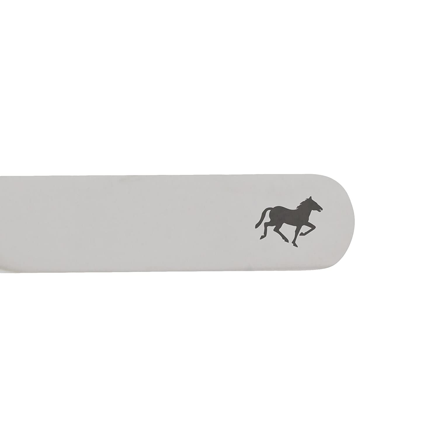 Made In USA MODERN GOODS SHOP Stainless Steel Collar Stays With Laser Engraved Horse Design 2.5 Inch Metal Collar Stiffeners