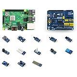 微雪 Raspberry Pi 3 Model B+ (套餐D) 树莓派3代B+ 带扩展板 传感器模块
