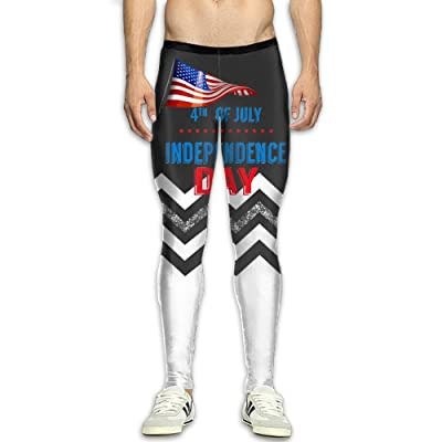 Kuswaq 4th-of-July-USA-Independence-Day Attractive Men's Athletic Running Pants Sport Pants \r\n Training Pant Sports Compression Tight Leggings