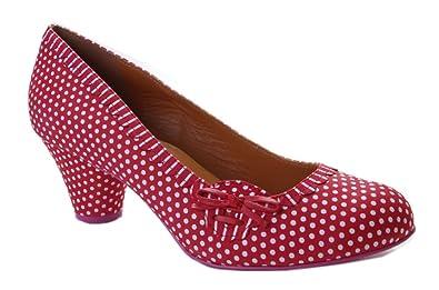 0700f8da08f3df Cristofoli Damen Pumps Rot mit Weißen Punkten  Amazon.de  Schuhe ...