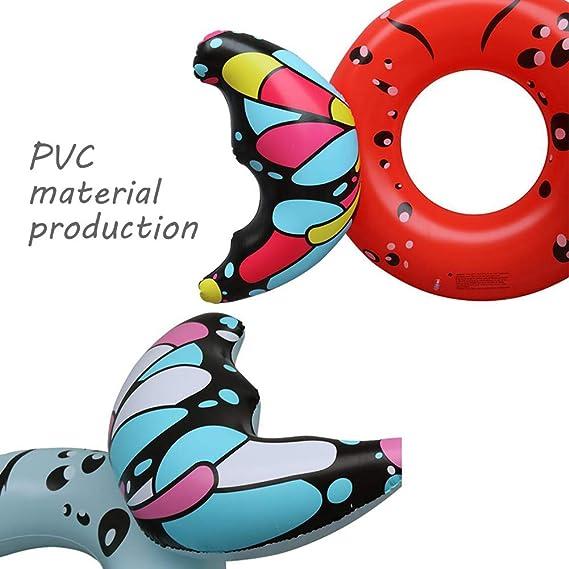 Flotador inflable gigante de la mariposa Anillo flotador de ...