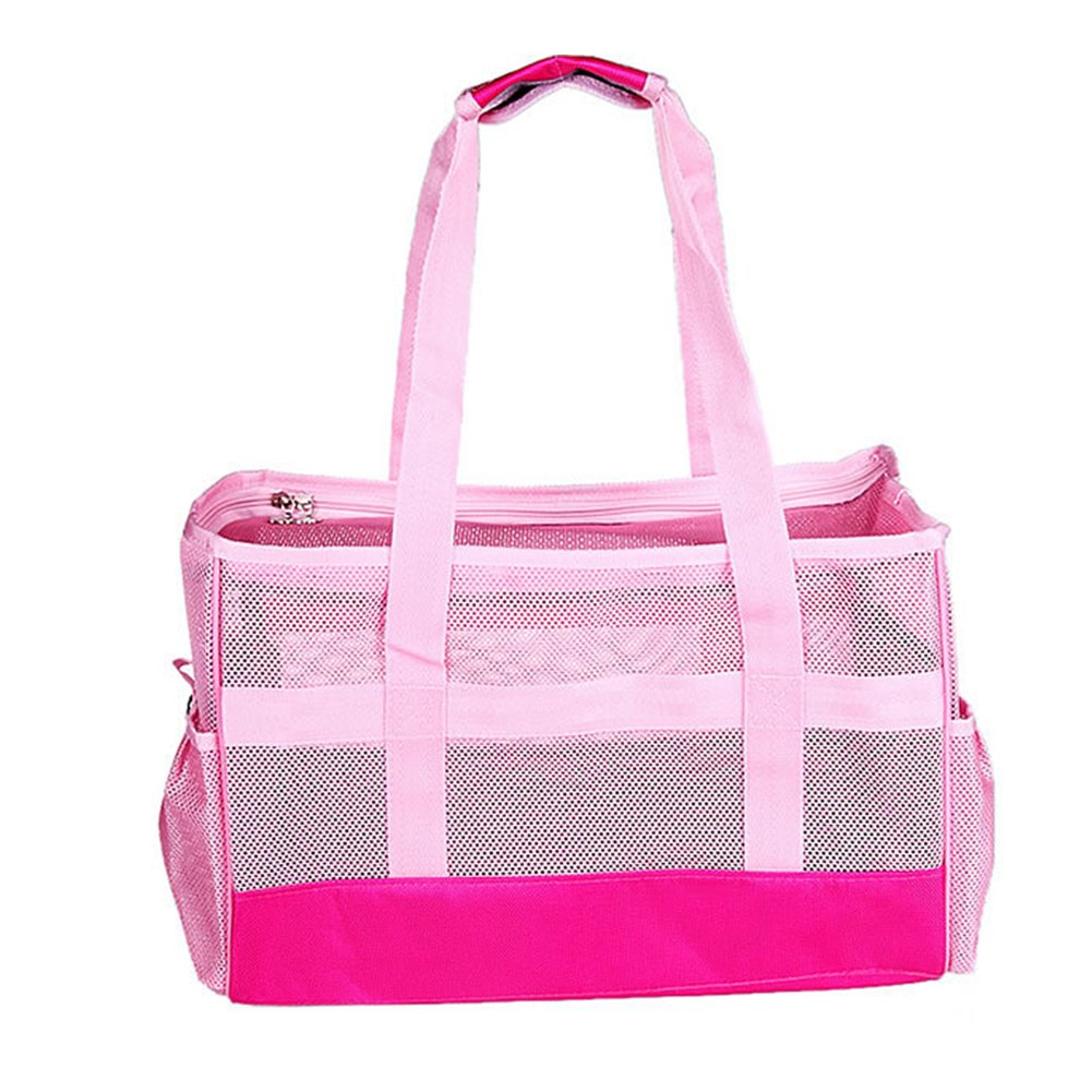 BUYITNOW Collapsible Pet Carrier Purse for Small Dogs Cats Travel Soft Net Tote Hand Shoulder Bag Kennel