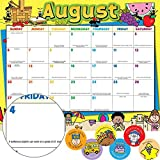 Really Good Stuff 2017-2018 School Year Monthly Calendar -12 Loose Pages August to July