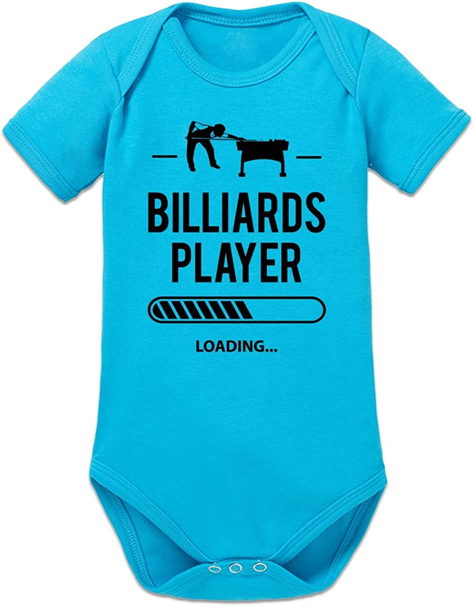 Shirtcity Billiards Player Loading Baby Strampler by