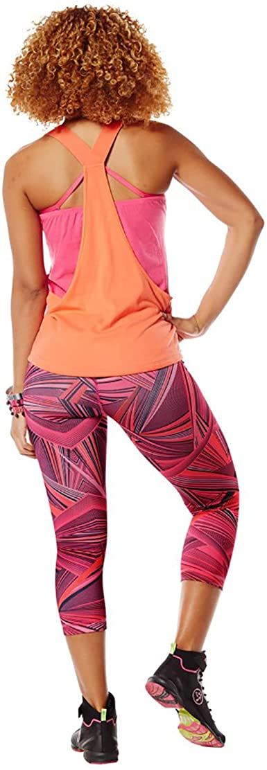 XXL Zumba Dance Compression de Fitness Pantalon de Sport Femmes Faire des Exercices Sport Elastiques Imprim/é Capri Legging Bangin Blue