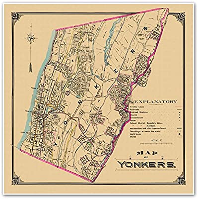 Amazon.com: Antiguos Maps Transportation & Street Map of YONKERS New on richfield springs map, stuyvesant map, staten island map, suffolk counties map, cornwall-on-hudson map, east ramapo map, rondout valley map, wawayanda map, new york map, white plains map, tarrytown train station map, rowayton map, fairport map, clason point map, yaphank map, lakewood map, westchester map, tioga downs map, whitestone map, queens museum map,