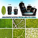 TELMU Inverted Microscope 40X-320X, Live Cell