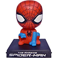 Zesta Avengers Bobblehead Toys & Action Figure with Mobile Holder Stand for Home and Car Decoration (Spiderman)