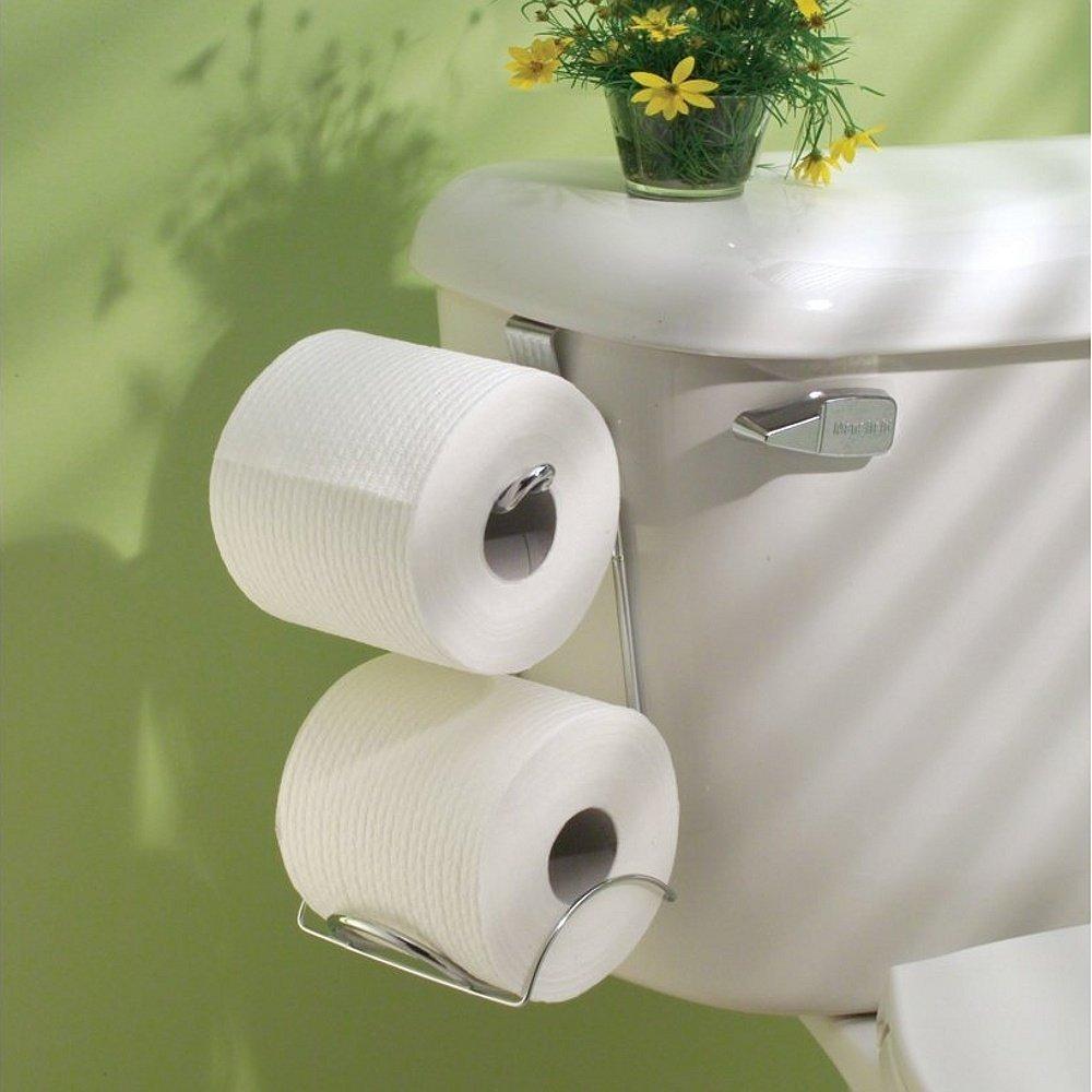 Tissue Holder Toilet Paper Storage Organizer Bathroom Rack Chrome