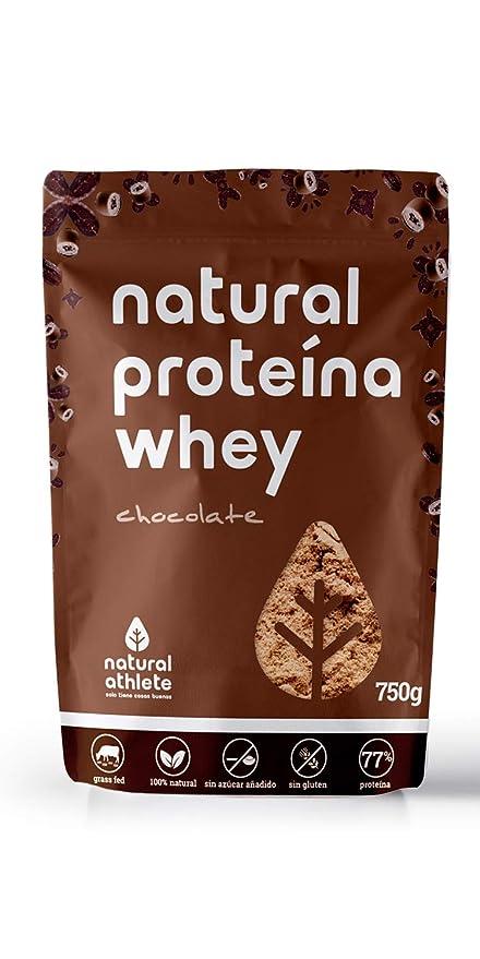 Proteína Whey - Natural Athlete- 80% Proteína aislada de leche de vacas de pasto
