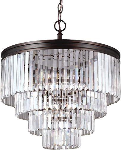Sea Gull Lighting 3114006-710 Carondelet Six-Light Chandelier Hanging Modern Fixture, Burnt Sienna