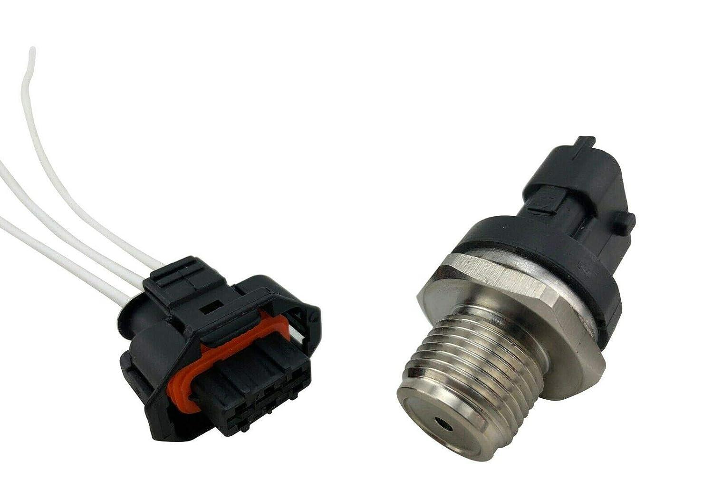 Diesel Injection Fuel Rail Pressure Sensor /& Pigtail for 07-12 Ram 6.7L Cummins
