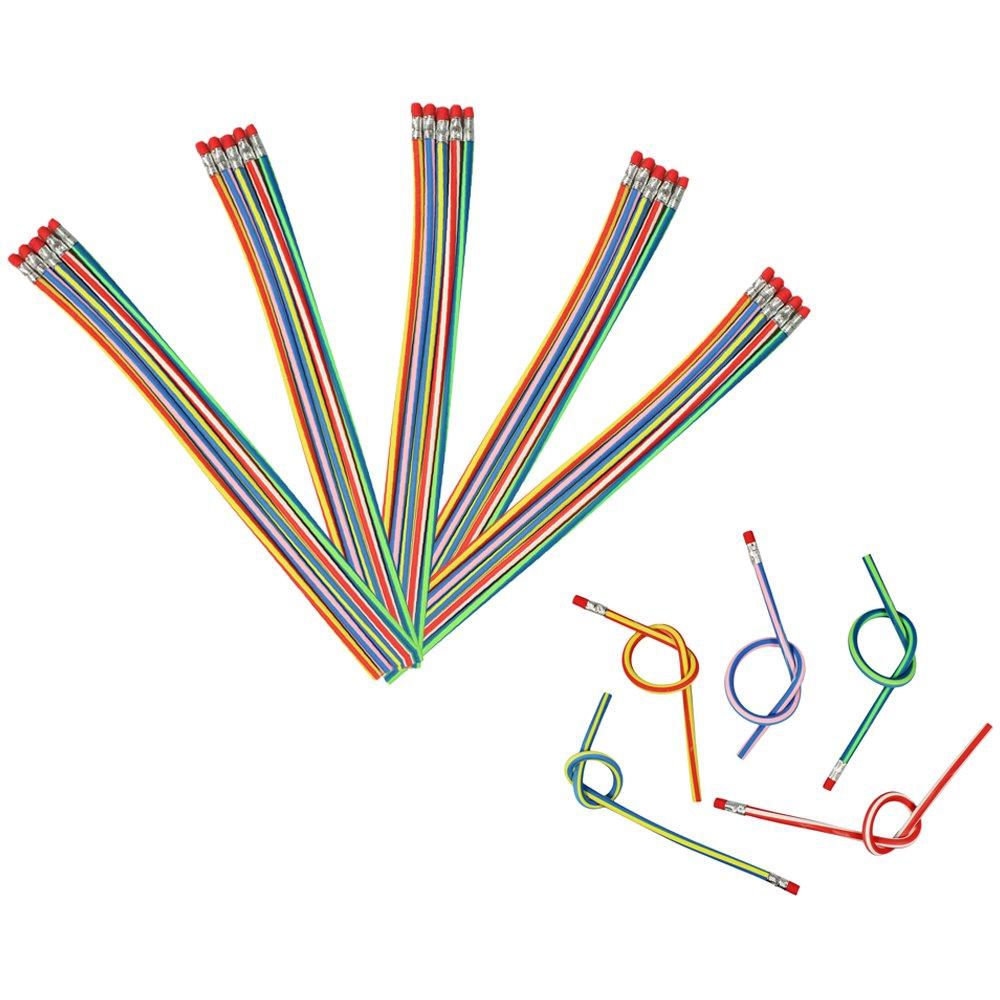 grado 2B COM-FOUR/® Matita magica flessibile ideale per bambini 15 pezzi - 30 cm
