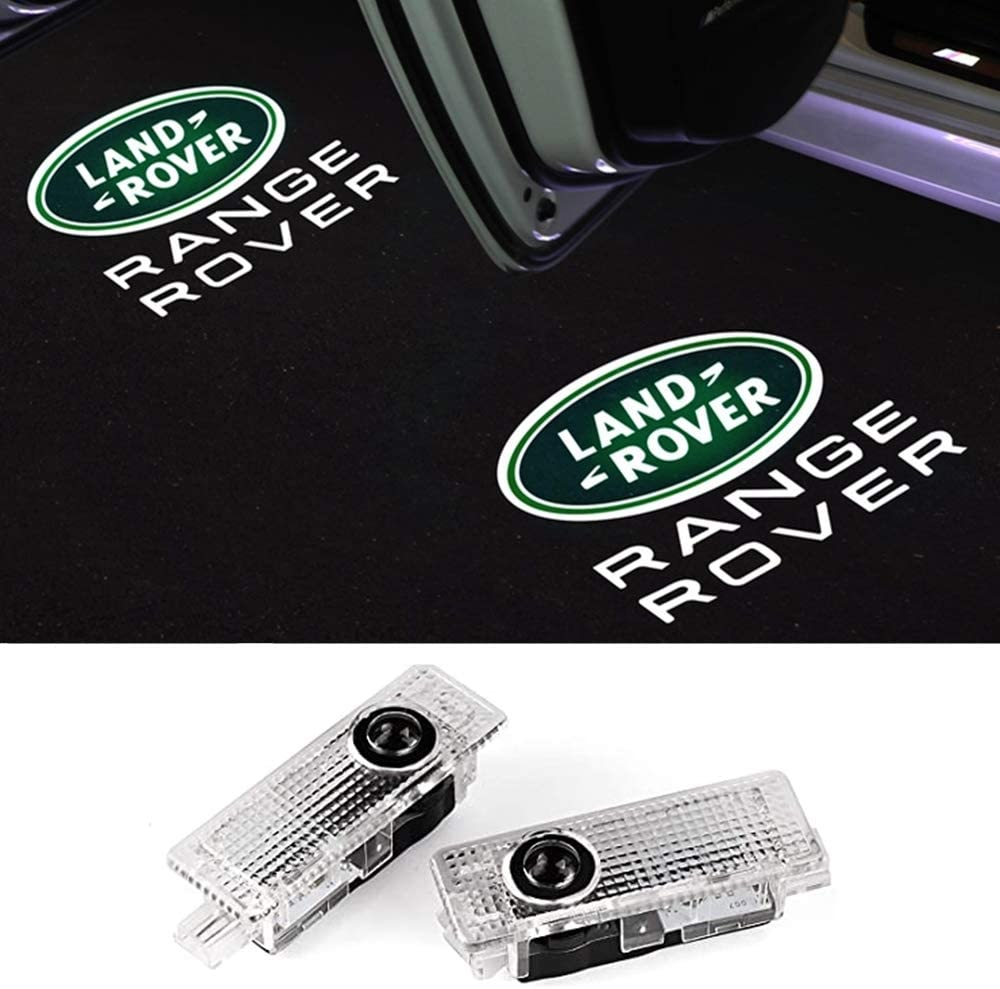 2pack Car Door Led Lights Projector Logo Shadow Ghost Light for Land Rover Range Rover 2007-2019 Compatible Welcome Lamp