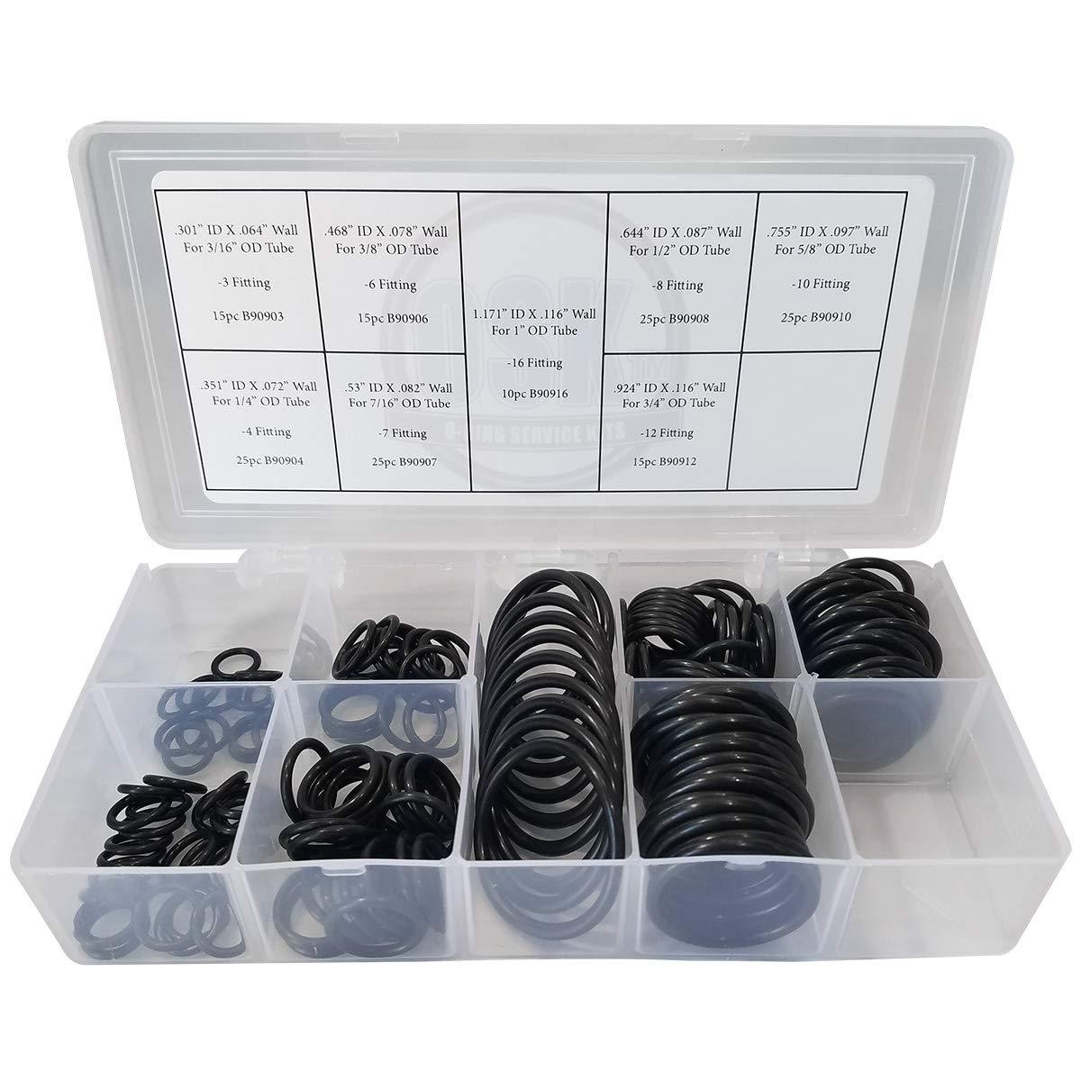Boss O-ring Kit - SAE 900-155 Piece Buna-N 90
