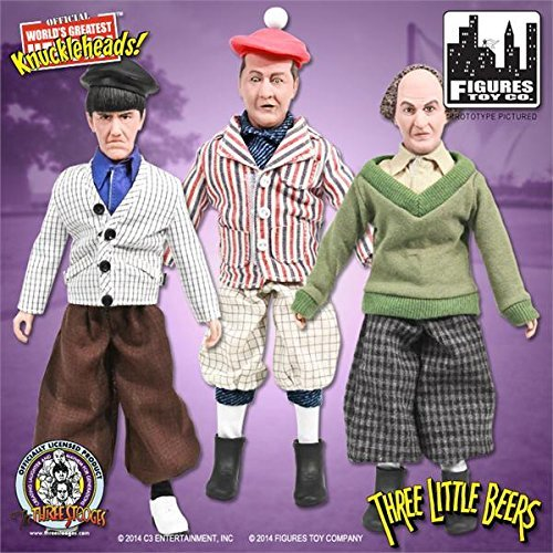 The Three Stooges 8 Inch Action Figures: Set of all 3 Three Little Beers Figures