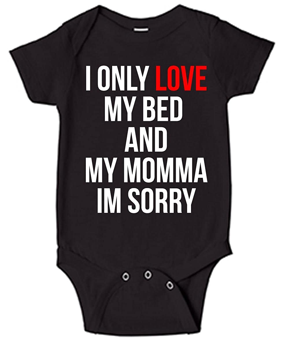 Technik Apparel I Only Love My Bed and My Momma Baby One Piece