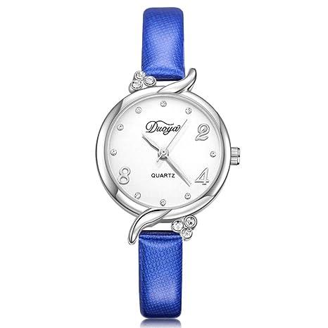 Relojes de carnaval dellin Trabaje Mujeres de aleatorio bolsillos de manecillas analógico de cuarzo reloj de