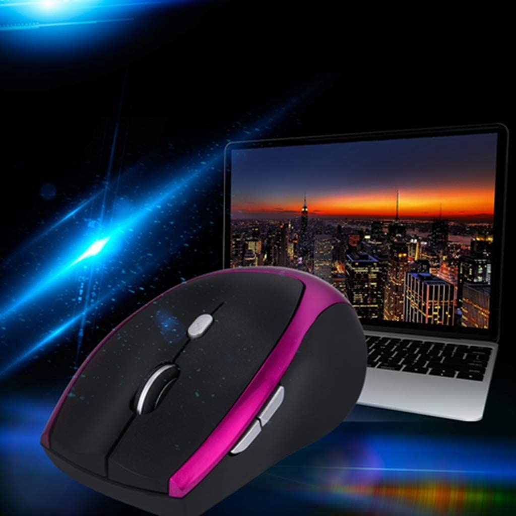 BINGFEI 2.4GHz Wireless Mouse 6 Buttons Optical Computer Gaming Mouse for PC Laptop Games,Blue