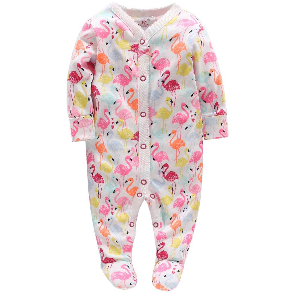 Neonata Pagliaccetto Body - Neonato Bambino Pigiama Tutina Maniche Lunghe Tuta Outfits, 0-3 Mesi Vine Trading Co. Ltd K180327LTY00101V