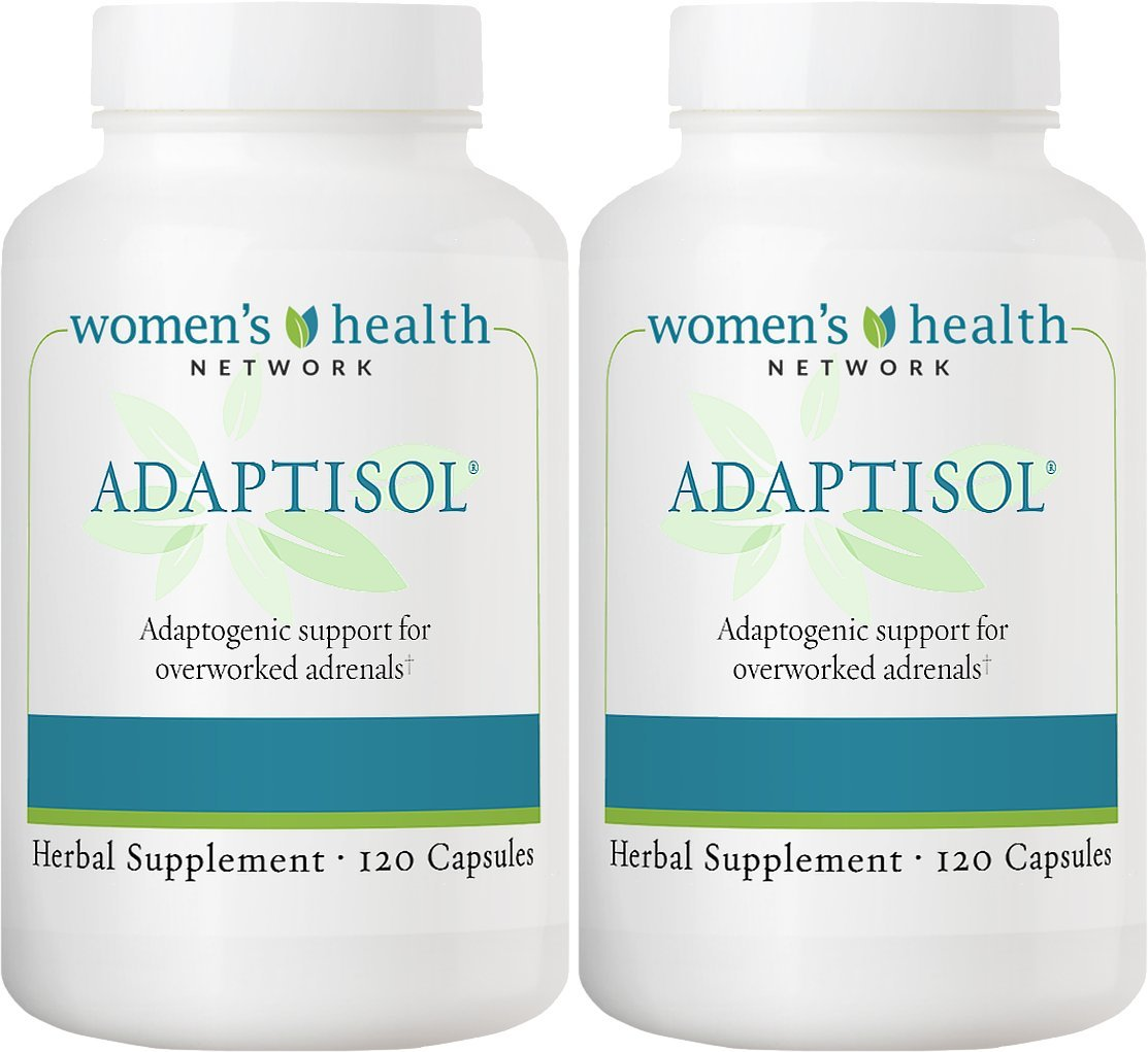 Adaptisol - Natural Adrenal Health Daily Support for Symptoms of Adrenal Fatigue (2 Bottles)