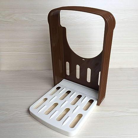 Topker Pan máquina de Cortar Pan Tostado Guía de Corte Molde del Cortador sandwichera Bagel Pan rebanadora de Ajustable con 4 Slice Espesores: Amazon.es: ...