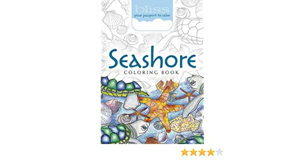 BLISS Seashore Coloring Book Your Passport To Calm Amazonca Jessica Mazurkiewicz Books