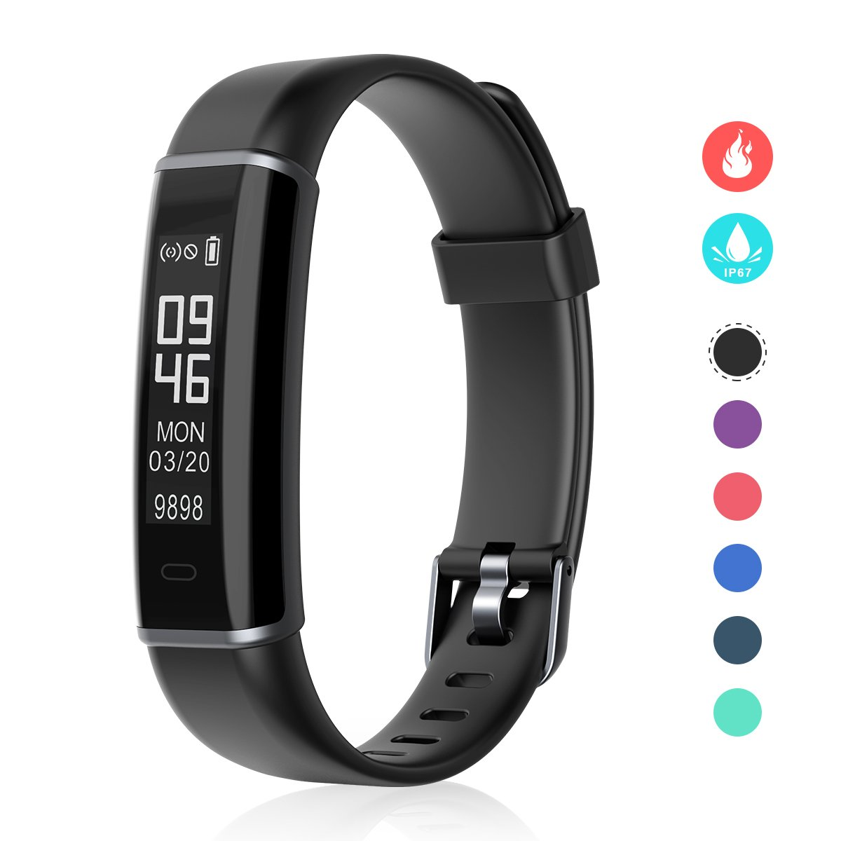 Fitness Tracker, EFOSHM Smart Fitness Activity Tracker Step Counter Calorie Counter Watch Pedometer, Slim Wearable Water Resistant Sleep Monitor Wristband Android/iOS