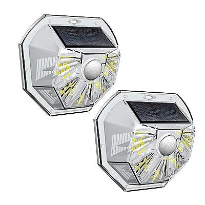 VOSONX Solar Lights Outdoor - Wireless Light Sensor & Motion Sensor Light, 40 LEDs Solar Powered LED Wall Light, IP67 Waterproof Home Decor Security Lights for Outside, Backyard, Front Door (2 Pack)