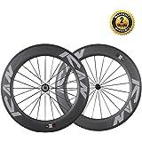 ICAN 86mm Carbon Time Trial Wheelset Triathlon Aero Road Bike Clincher Tubeless Ready 6 Pawls Hub 1920g ( Standard Wheelset )