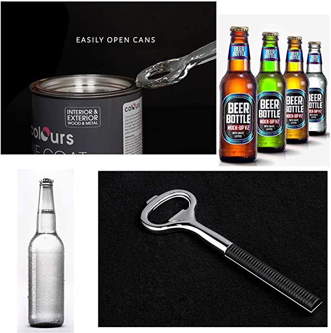 Aqua, Agate Stainless Steel Opener with Agate//Marble Base. Bottle Opener Solid and Durable Beer Openers
