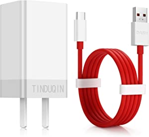 TINDUQIN OnePlus6T/6 Dash Charger OnePlus 5T/5 Dash Charger Dash Power Adapter5V 4A + OnePlus Dash Charging Cable 1M / 3.3FT Type C Dash Charging Data Cable for Oneplus3T/3