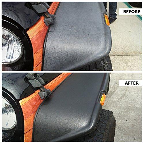 solution finish black plastic vinyl restorer use for car and truck detailing 12 oz. Black Bedroom Furniture Sets. Home Design Ideas