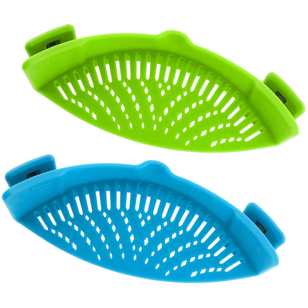 Snap Strainer, DaKuan 2 Packs of Hands-free Clip-on Heat Resistant Colander Pour Spout for Pasta Vegetable Noodles Pot bowl Pan 4336002355