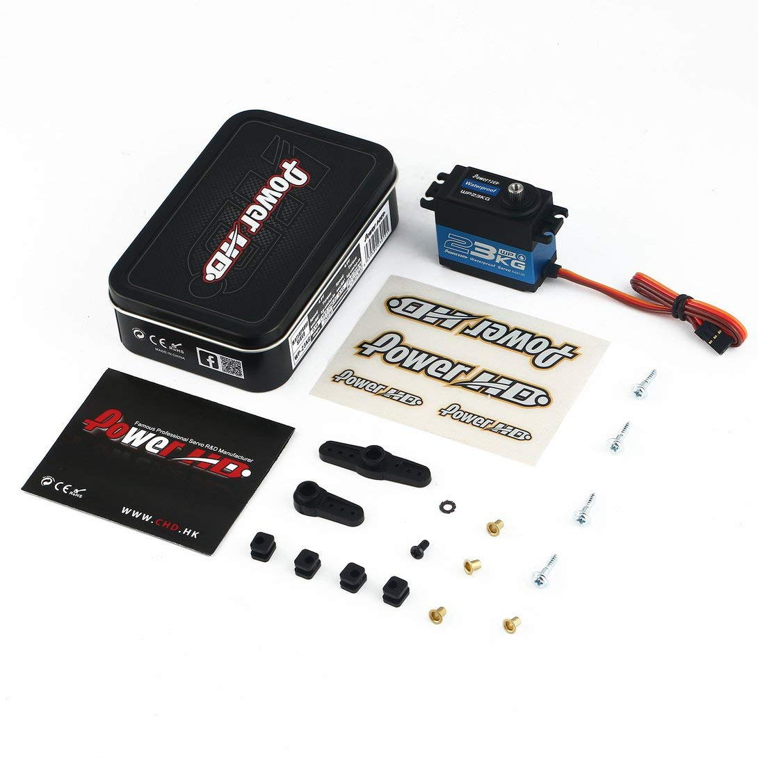 Swiftswan WP-23KG Wasserdichtes Metallgetriebe Digital Coreless Servo mit 23kg High Torque für 1/10 RC Fernbedienung Auto Stiefel Schwarz