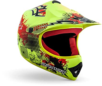 "Armor · AKC-49 ""Limited Yellow"" (yellow) · Casco Moto-Cross · Quad NINOS Racing motocicleta Enduro Off-Road Scooter · DOT certificado · ..."