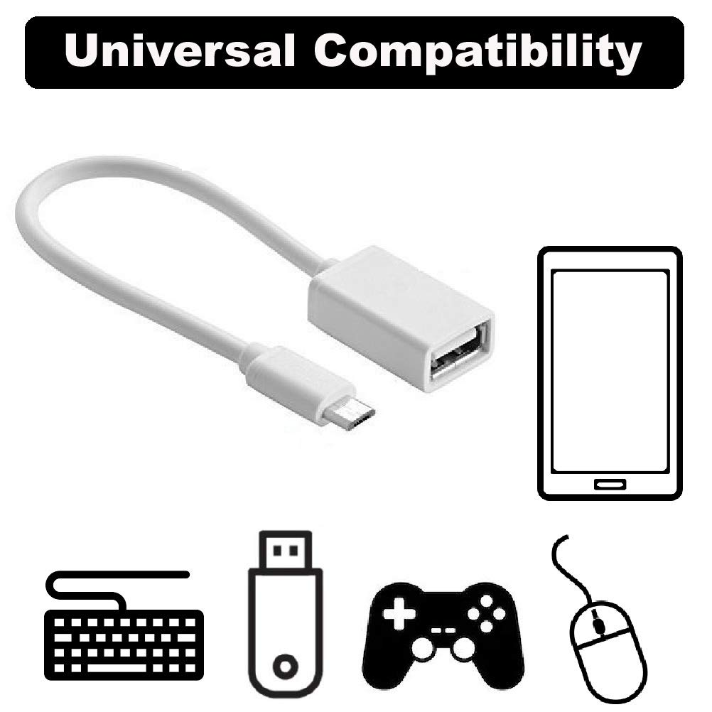 Black OTG REALMAX/® Universal Micro USB OTG Adapter Cable for Android Samsung HTC Nexus Hudl Sony Experia Nokia Mobile phone Tablet To Keyboard Mouse Memory Flash Stick External Hard Drive game controller card reader connection