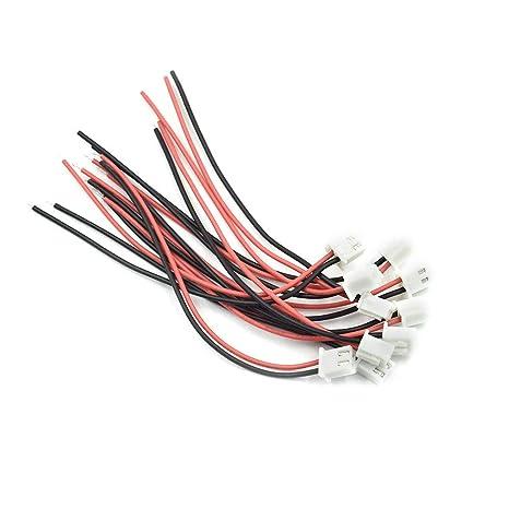 3 Pines 1.25 mm Conectores Micro Conector de Macho y Hembra El/éctrico con Cables Terminal 3 pin JST 2 Pines