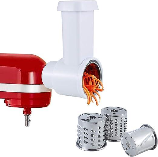 iVict - Accesorio para cortar verduras y trituradora compatible con cualquier batidora KitchenAid, accesorio para picadora de verduras, cortador de ensaladas: Amazon.es: Hogar