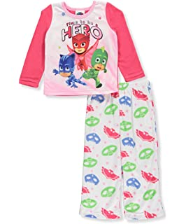 Pj Masks Girls Toddler Pajama Set featuring Catboy, Owlette, and Gekko