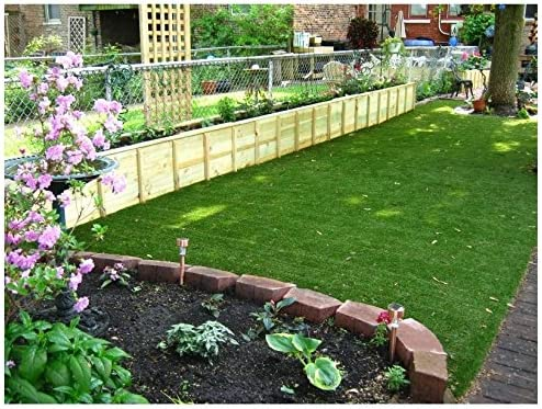 15'x10' - 82 Oz. PREMIUM TURF - ARTIFICIAL GRASS | 54 Oz. Face Weight/Density, 2-Layer Primary and Secondary 28 Oz. Backing, Green Two-Toned Blade & Tan Thatch- Landscaping, Terraces, Dog Runs & More!
