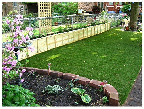 15'x3' - 82 Oz. PREMIUM TURF - ARTIFICIAL GRASS | 54 Oz. Face Weight/Density, 2-Layer Primary and Secondary 28 Oz. Backing, Green Two-Toned Blade & Tan Thatch - Landscaping, Terraces, Dog Runs & More!
